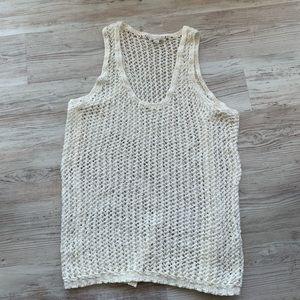 NWOT Gap women's crocheted tank size medium